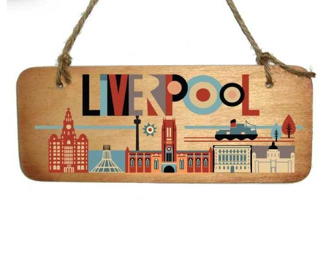 Liverpool Cathedral Rustic Wooden Plaque
