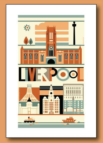 Liverpool Cathedral Mounted Print