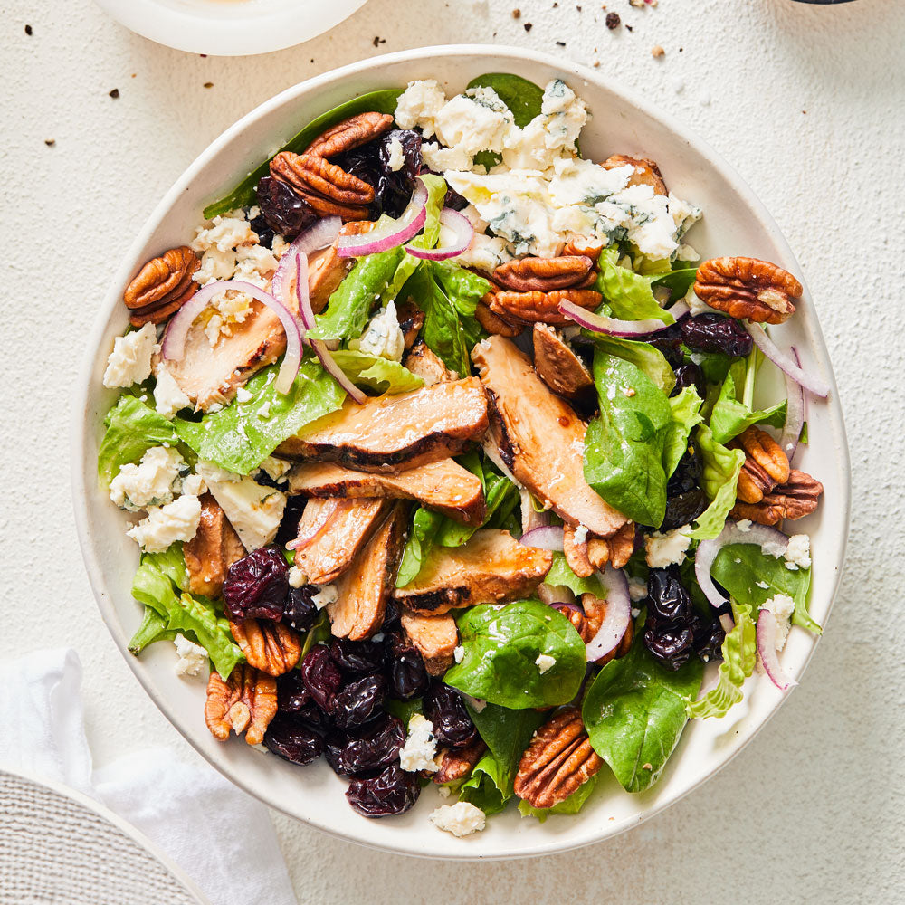Pecan & Blue Cheese Grilled Chicken Salad