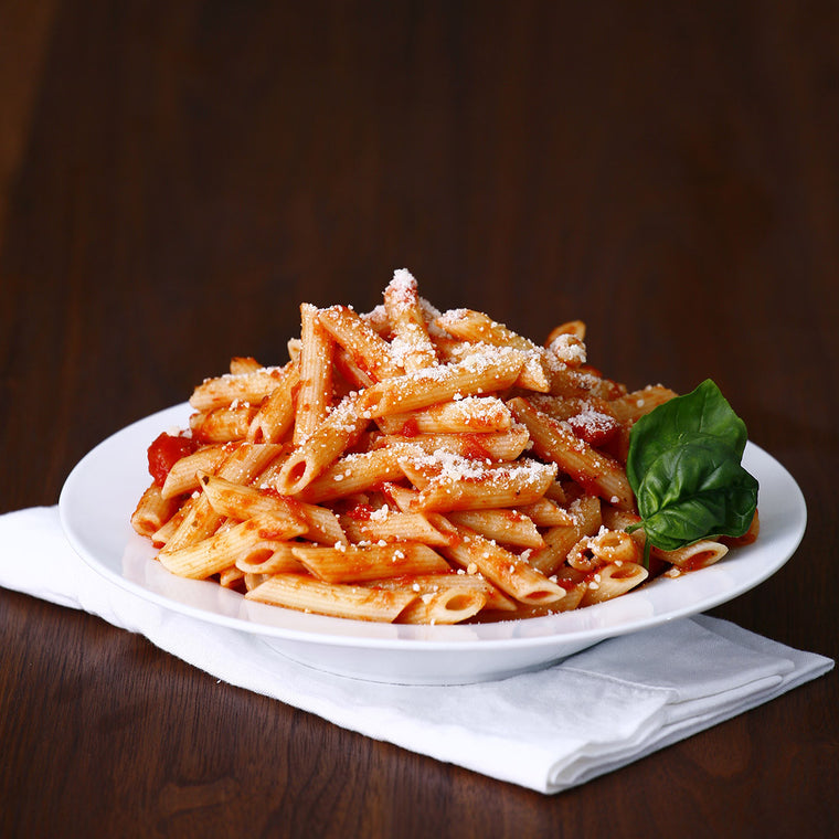 Penne Pasta with Tomato-Basil Sauce