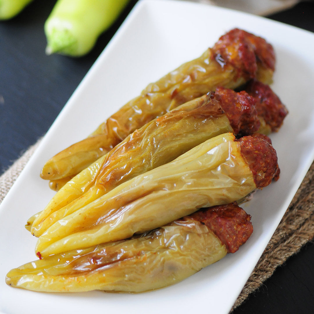 Hot Stuffed Banana Peppers