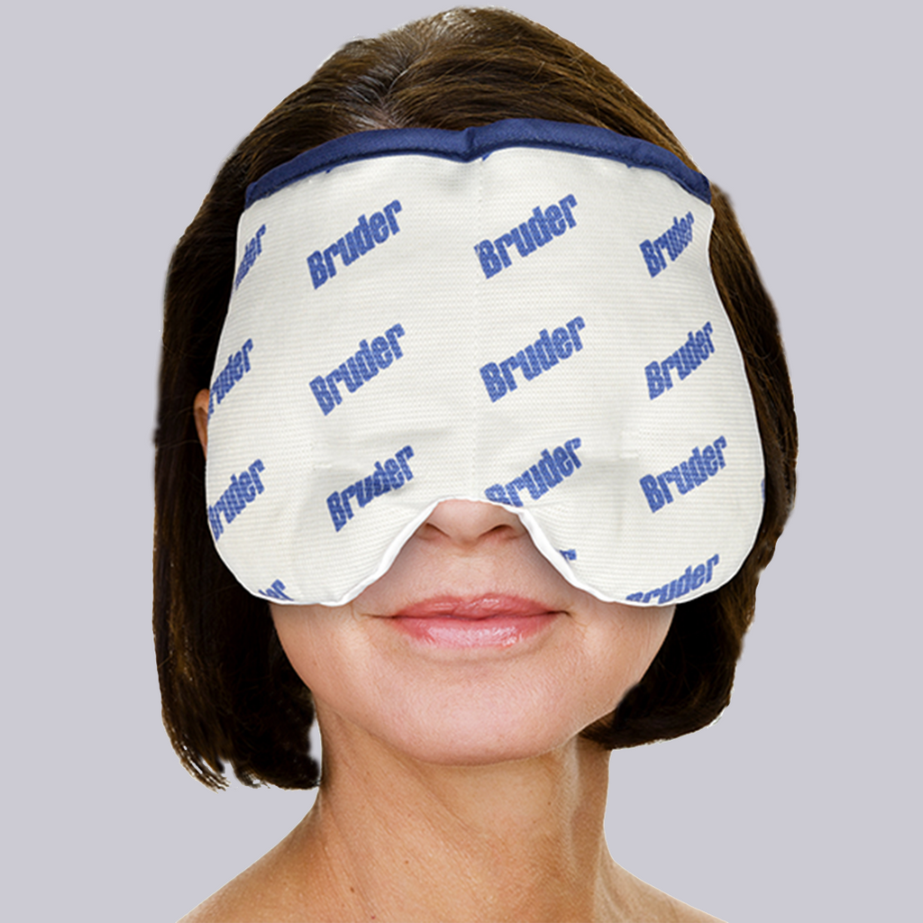 BRUDER Moist Heat/Cold Sinus Compress, sinus relief, headache relief, Sinus mask, sinus compress, microwavable sinus compress, sinus wrap, stress relief, moist heat