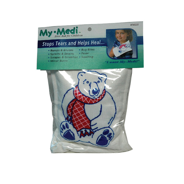 MY-MEDI Cold Compress Polar Bear, puppet-like design, soothing cold for children
