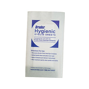 Eyelid Sheets, good lid hygiene, Bruder moist heat eye compress, BRUDER Hygienic Eyelid Sheets, moist heat