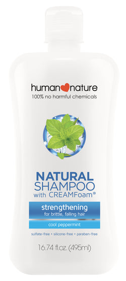 Human Nature Cool Pepperming Strengthening Shampoo 495ml - www.healthfreakstore.com