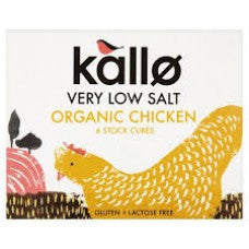 Kallo Stock - Very Low Salt Organic Chicken Stock Cubes 8g x 6 - www.healthfreakstore.com