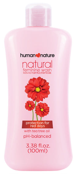 Human Nature Natural Feminine Wash Protection for Red Days 100ml - www.healthfreakstore.com