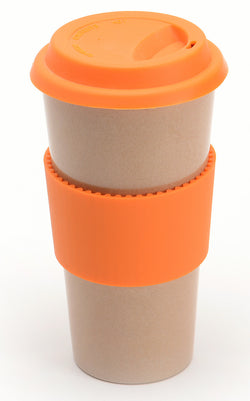 Eco-friendly Husk'sWare Tall Coffee Mug - Tropical orange - www.healthfreakstore.com