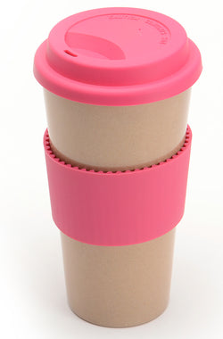 Eco-friendly Husk'sWare Tall Coffee Mug - Pink - www.healthfreakstore.com