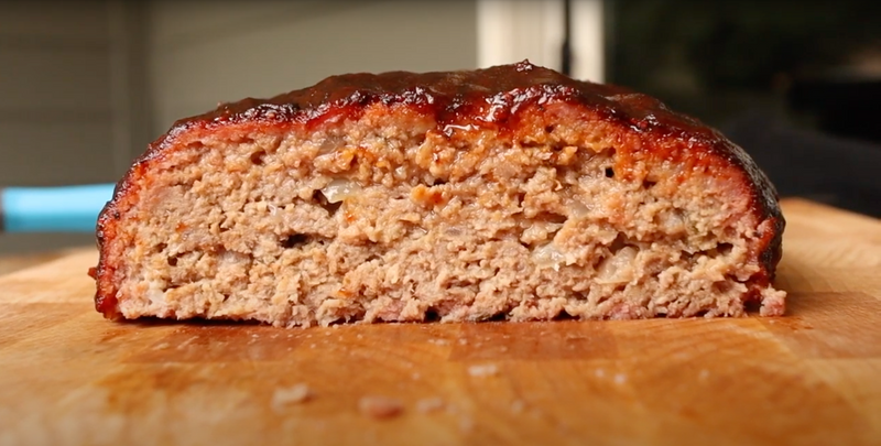 Smoked Glazed Meatloaf