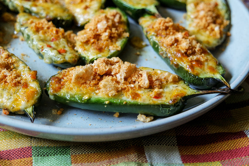 Pimento Stuffed Grilled Jalapeños with Amplify