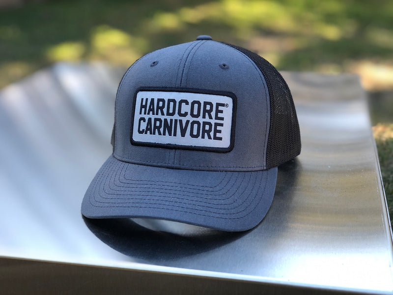 Hardcore Carnivore gray patch logo cap