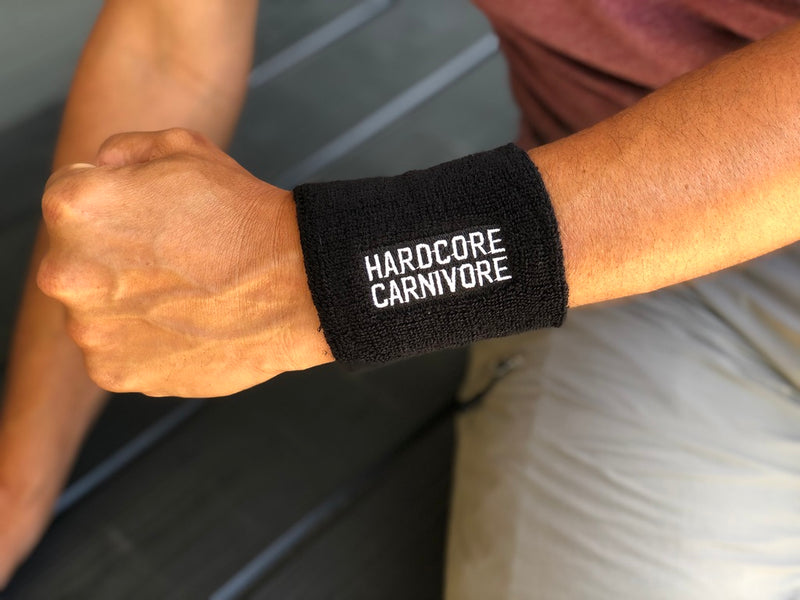 Hardcore Carnivore terrycloth wristband