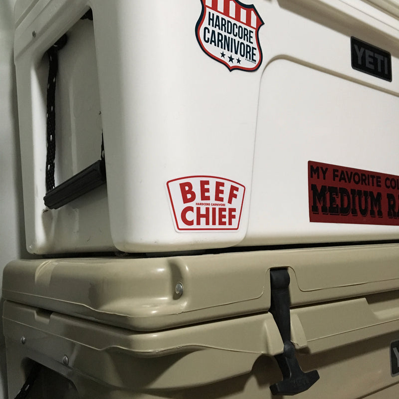 Beef chief shield sticker decal