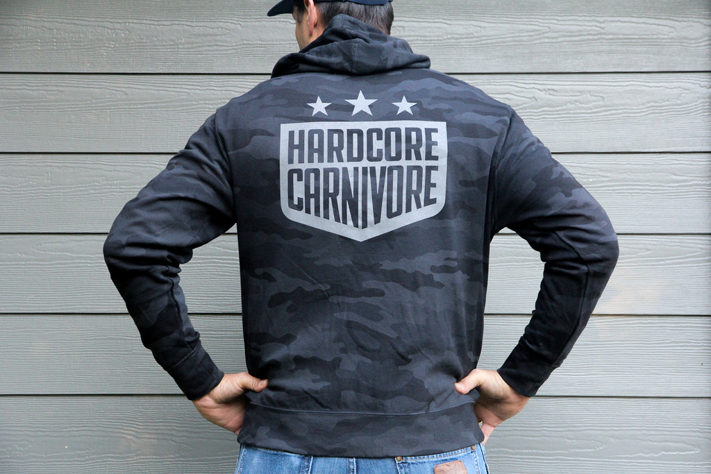 Hardcore Carnivore Limited Edition Black Camo Hoodie
