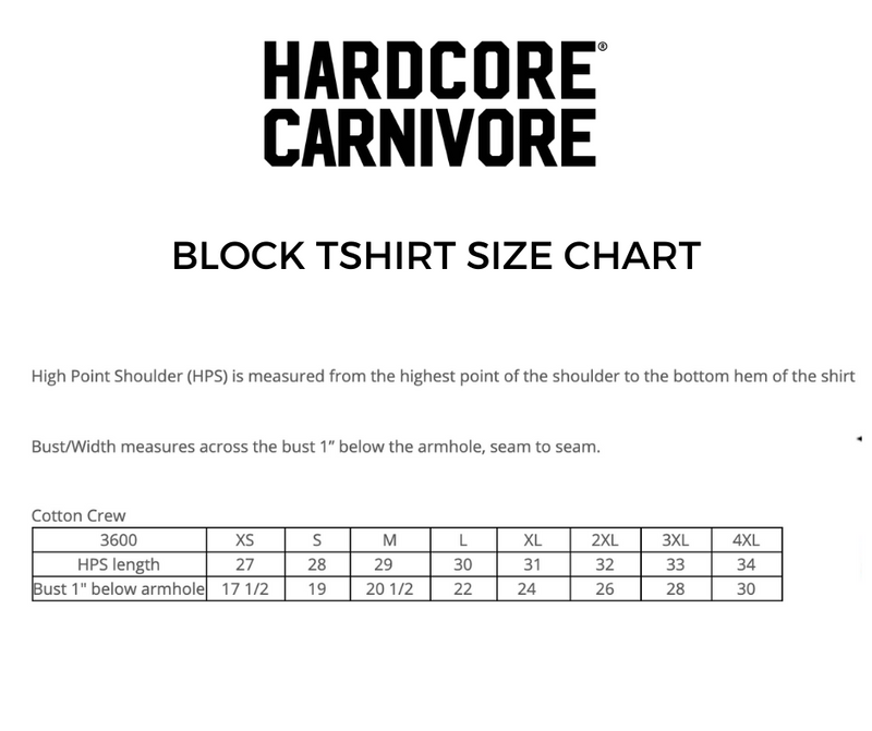 Hardcore Carnivore tactical block logo t shirt