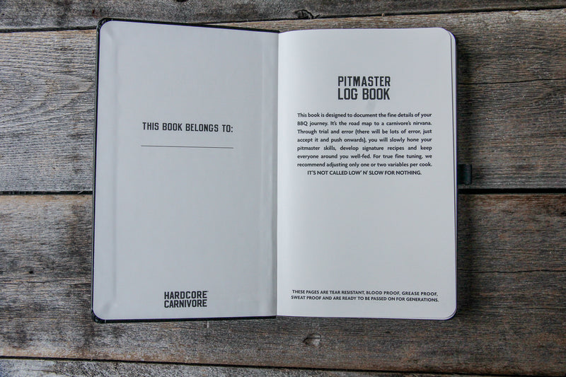 Pitmaster Log Book with blank recipe templates