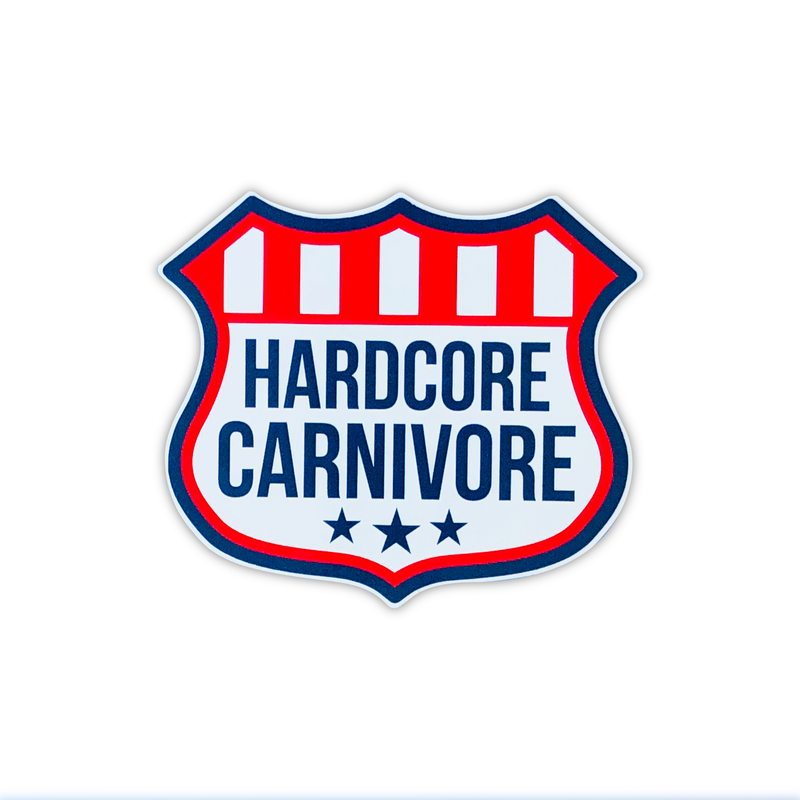 Hardcore Carnivore shield sticker decal