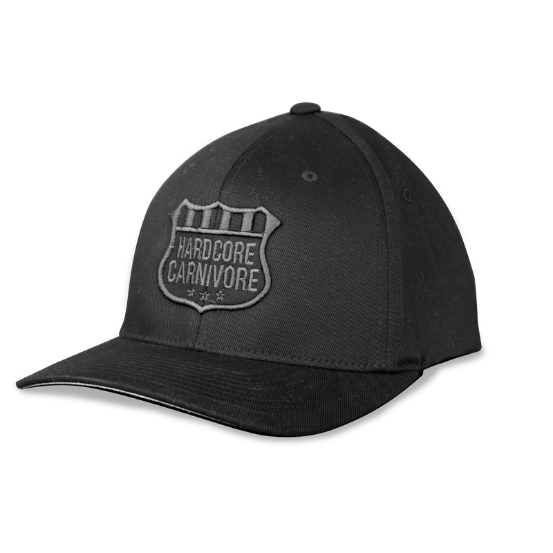 Hardcore Carnivore BLACKENED flexfit hat