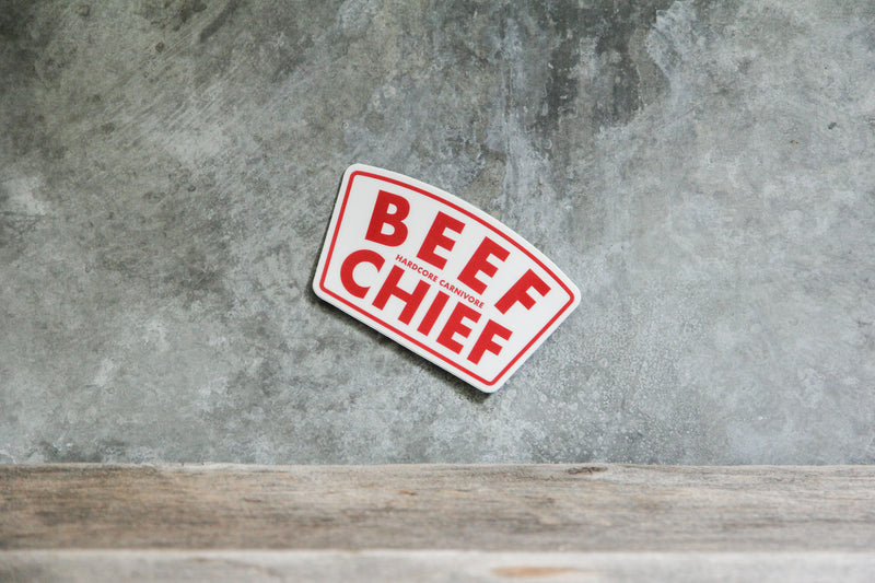 Beef chief decal sticker