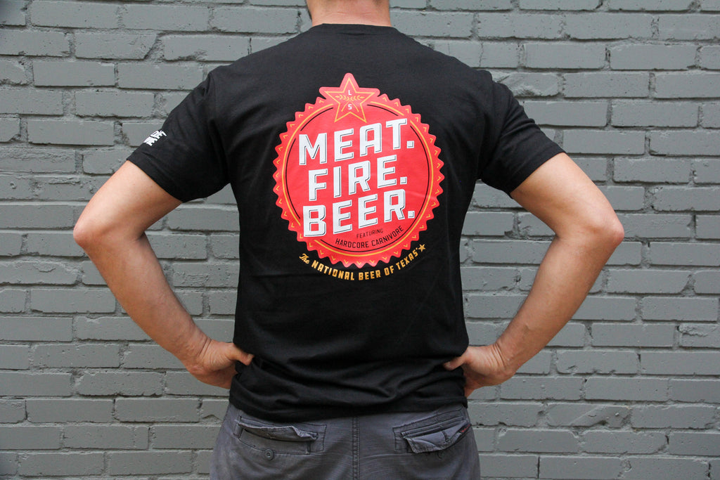 Lone Star Meat Fire Beer Shirt