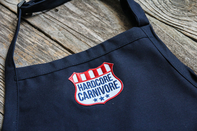 Hardcore Carnivore Navy Butchers Apron