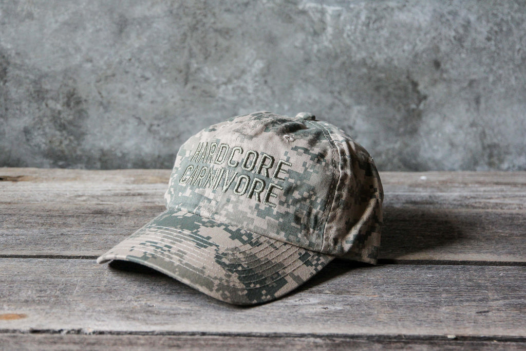 Hardcore Carnivore unstructured digi camo hat