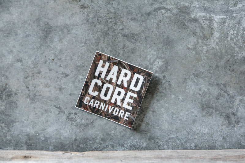 Hardcore Carnivore camo sticker decal