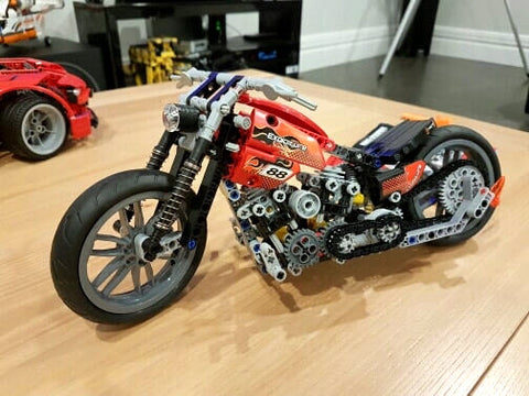 Harley Style Chopper Building Blocks