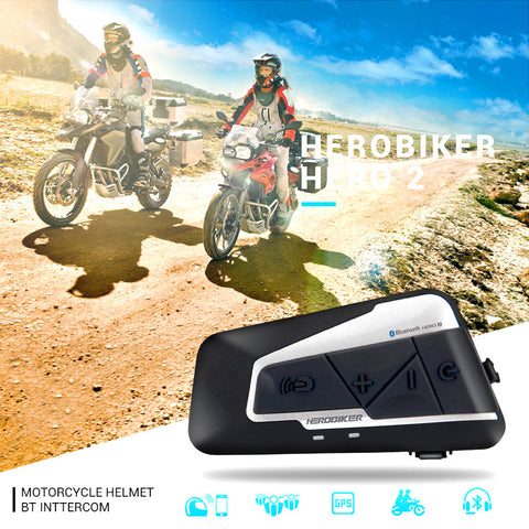 HEROBIKER™ Bluetooth Intercom 2 Riders Headset