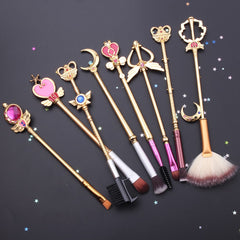 Gold Sailor Moon Makeup Brushes 8pcs