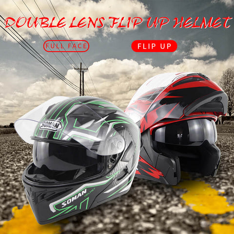 Modular Flip-Up Dual Visor Bluetooth DOT Helmet