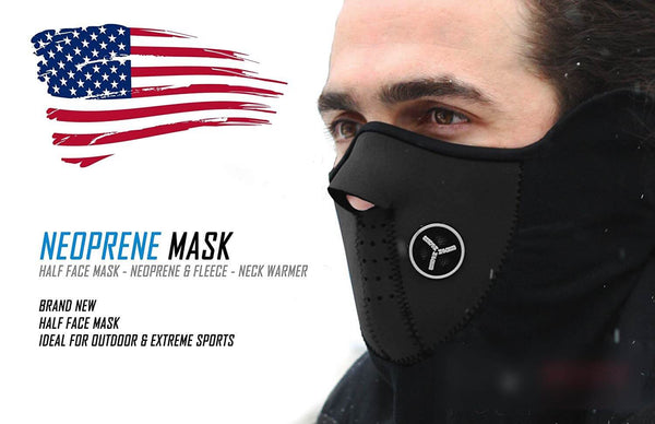 Motorcycle Half-Face Mask Cover Fleece Neck Warmer