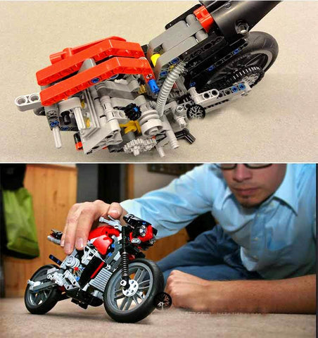 Racing Motorbike Building Blocks