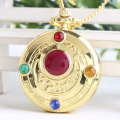 Sailor Moon Pocket Watch Necklace - 14k Gold-Plated