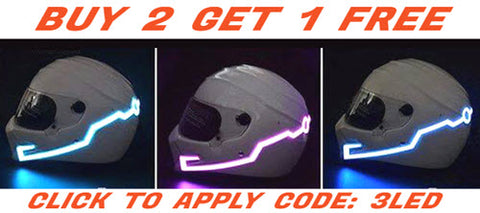 Motorcycle Helmet LED Light Safety Stripes - Buy 2 Get 1 Free