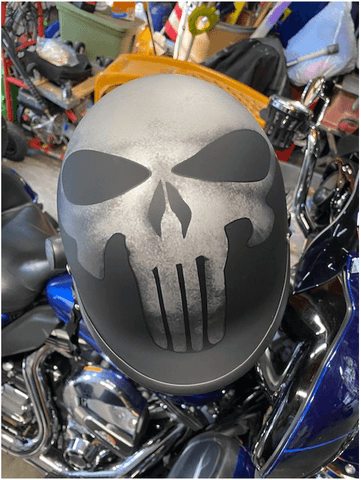 Smallest Strongest Skull Beanie Helmet  Punisher
