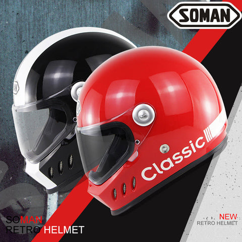 Supermotard Phoenix Classic Motorcycle Helmet - Family Avenue