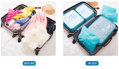 Suitcase Organizer Bags - 6pcs Set