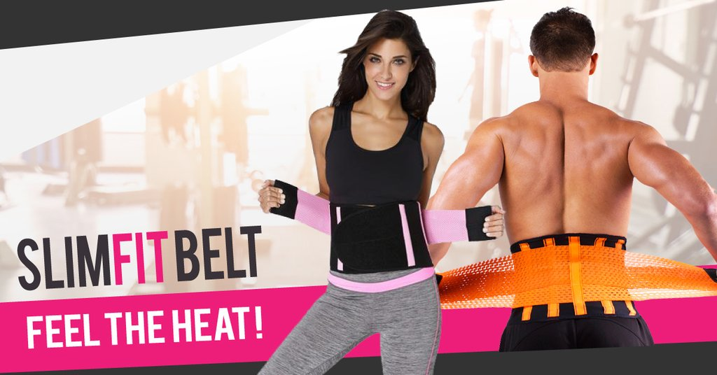 Slimfit Waist Trainer Belt - Instant Slimming And Back Support