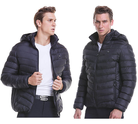 usb powered heated black jacket family avenue
