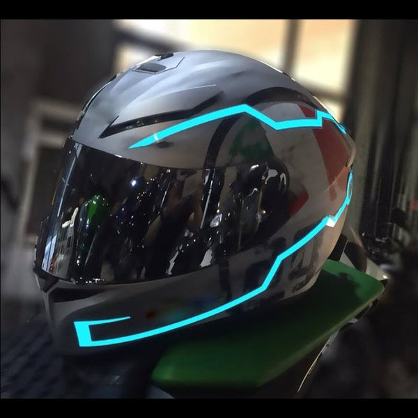 Motorcycle Helmet LED Light Safety Stripes