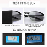 Photochromic Anti-Glare Polarized Sunglasses