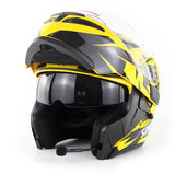 SOMAN™ Eagle-Eye Motorcycle Flip-Up Helmet with Bluetooth