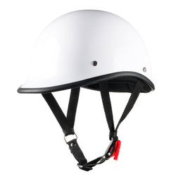 Smallest Lightest DOT Open Face Polo Helmet - Bright White
