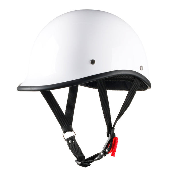 Lightest DOT Motorcycle Polo Helmet - Bright White