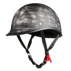 Lightest DOT Motorcycle Polo Helmet - Rust Black
