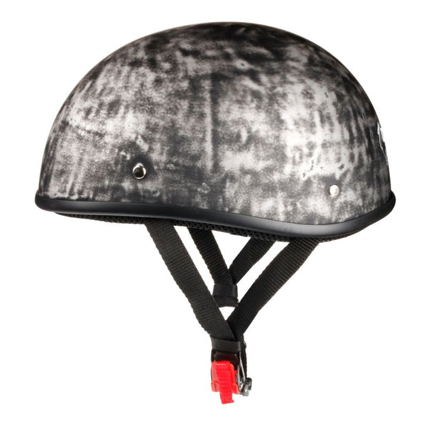 Lightest DOT Open Helmet - Rust Black / No Peak