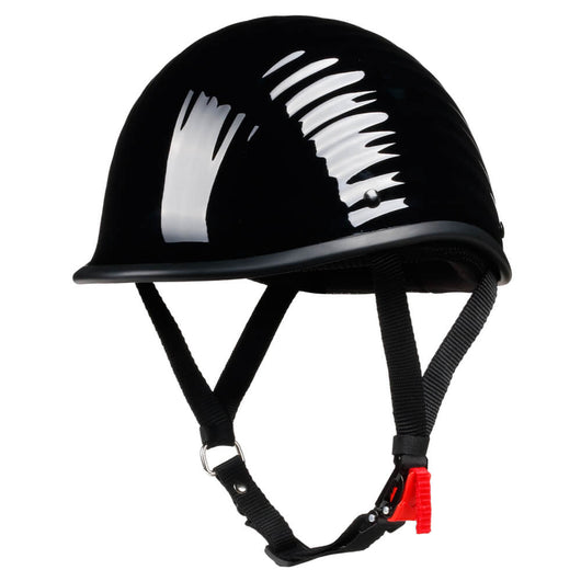 Lightest Low Profile Polo Style Twister Helmet - Gloss Black