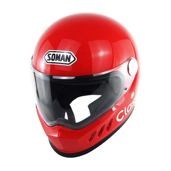 Supermotard Phoenix Classic Helmet - Red